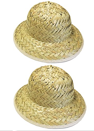 [GiftExpress Kids' Woven Safari Pith Hats 1 set of 2] (Straw Safari Hat)