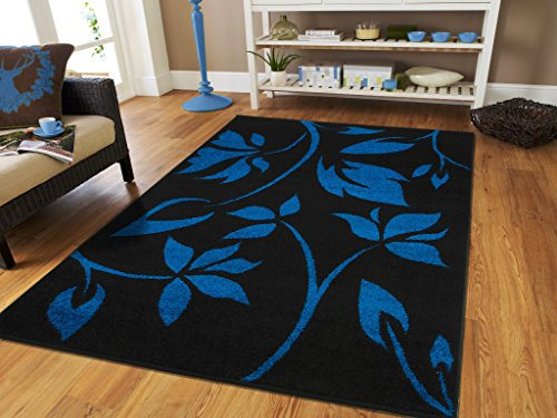 Luxury New Fashion Large 8x11 Rugs For Living Room 8x10 Blue Flower (8x10 Art Flower)
