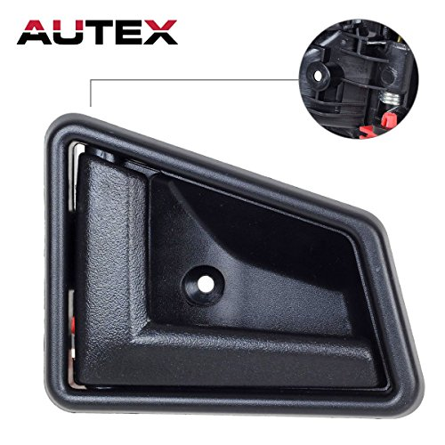 AUTEX Interior Front/Rear Left Driver Side Door Handle compatible with 1991 1992 1993 1994 1995 1996 1997 1998 Suzuki Sidekick Door Handle 8313056B015ES