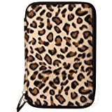 VanGoddy Protective Leopard Faux Fur Hard Shell Case Compatible with Kobo Aura Edition 2 | Huawei Media Pad T3 7, X2 | Amazon Kindle, Kindle Voyage, Kindle Paperwhite 6''-7in