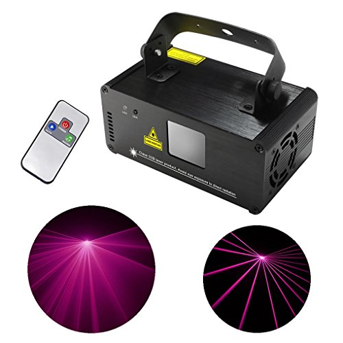 Mini IR Remote DMX 512 Pink Color Stage Lighting DJ Dance Party Home Show Projector Lights ADM-P200 by JE