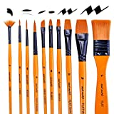 Mont Marte Art Paint Brushes Set, Acrylic, 15 Pieces
