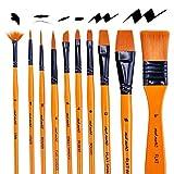 Office Products : Mont Marte Art Paint Brushes Set, Acrylic, 15 Pieces