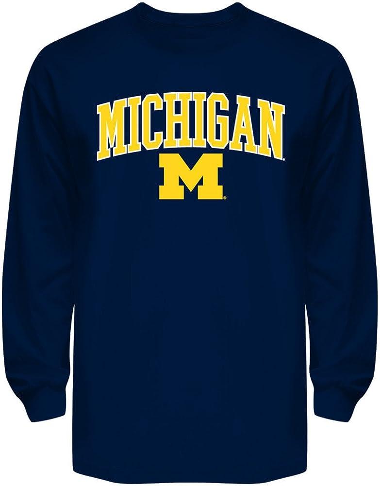 Elite Fan Shop NCAA Mens Team Color Arch Long Sleeve Tee