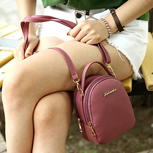 Travel Backpack Rucksack Shopping Leather Ladies Satchel Women PU Shoulder Casual Bag red Gray Mini Watermelon Girls Janly® Bags w46Xxq7P
