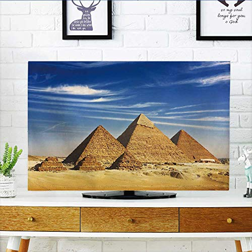 Philiphome Television Protector Egypt Cairo Giza General Pyramids from The Giza Plateau Three Pyramids Known as Queens Television Protector W36 x H60 INCH/TV 65