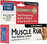 Family Care Maximum Strength Pain Relieving Muscle Rub, 1.25 oz. Bulk Case of 24