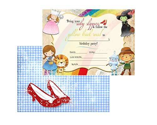 Off to See The Wizard Themed Party Supplies Birthday (Invitation) ()