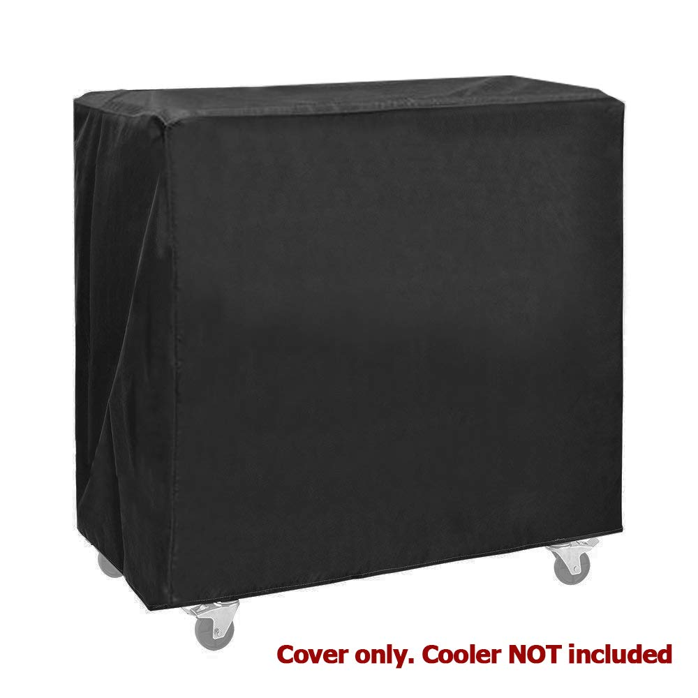Clevr 80 Quart Cooler Cart Cover, 32''X30''X17'', Fits Most 80 Quart Rolling Ice Chest, Black, Water Resistant, UV Resistant