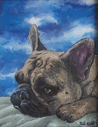 Pet Portrait, Custom Dog Painting, Custom Pet Painting, Cat Painting, Custom Dog Portrait, Custom Cat Portrait 8X10 inch by Wibell's Wonders