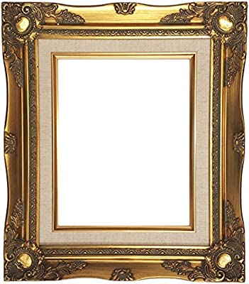 Amazon.com - Ornate Baroque Gold Painted Wooden Frame with Cream ...