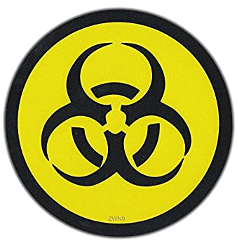 Biohazard Symbol Hard Hat Sticker / Helmet Decal Label Lunch Tool Box