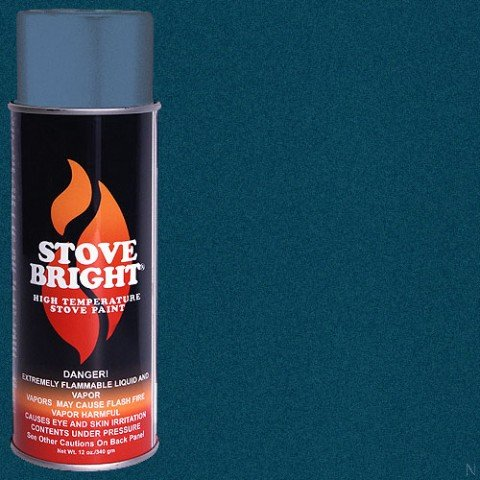 Stove Bright Ti 8105 High Temperature Paint  1200 Degree F Operating Temperature Range  12 Oz Aerosol  Metallic Blue