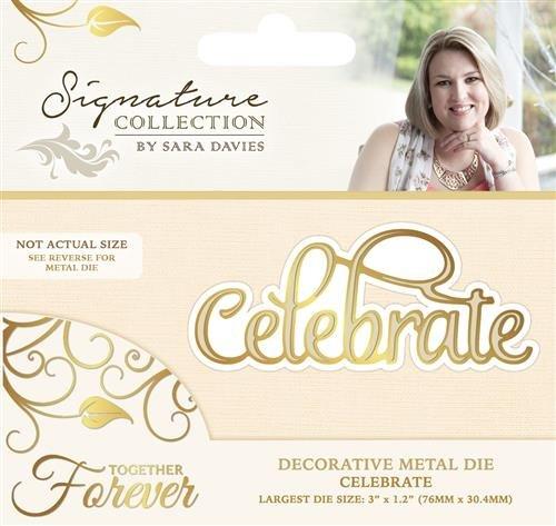 11.5 x 12.1 x 0.2 cm 0 Gold Sara Signature Together Forever-Metal Die-Celebrate