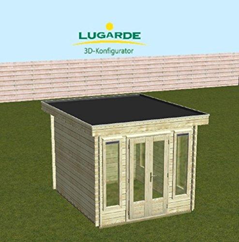 lugarde Jardín Casa Kassel Madera de abeto nuevo Bloque Diseño con alas para puerta y Tejado Plano: Amazon.es: Jardín