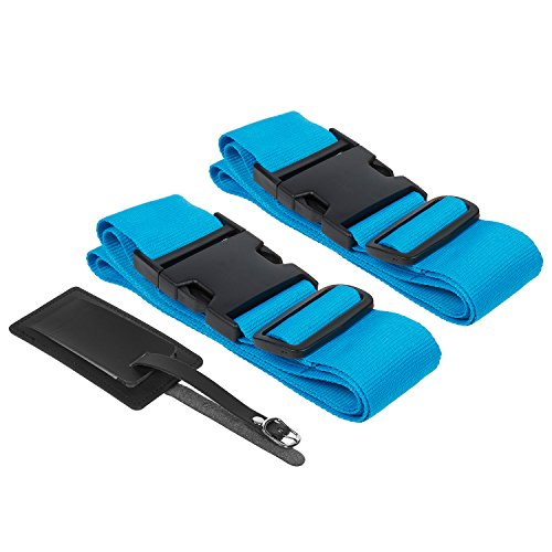 Suitcase Straps / Luggage Straps - TSA Friendly Travel Belt And Tag...