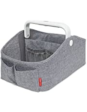 Skip Hop Changing Pad: Easy-Clean Cushioned Foam Diaper Changing Pad with Tuck-Away Toy Bar, Grey