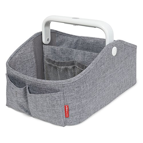 Skip Hop Nursery Style Light-Up Diaper Caddy, Grey