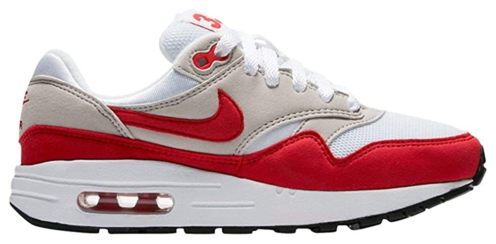 factory price e5a00 aaa2f Amazon.com   Air Max 1 Qs (Gs) - 827657-101 - Size 6.5 White, University  Red   Running