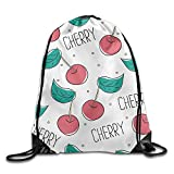 CZXWAOY Cute Cherry Backpack Knapsack Backpack Novelty Customize Fashion Personality Travel Bag