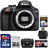 Nikon D3400 Digital SLR Camera Body (Black) with 32GB Card + Case + Kit (Certified Refurbished)