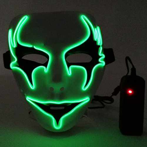 Led Mask,Outgeek Scary Light Up Mask Cool El Wire Mask for H