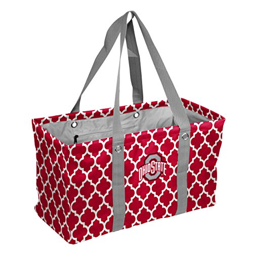 Logo Brands Collegiate Large Collapsible Picnic Tote Ohio State Buckeyes, Red, One (Ohio State Buckeyes Pocket)