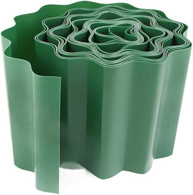 Valla de decoración de jardín de 15 cm x 9 m Valla de plástico Valla de Polipropileno - Valla de plástico Corrugado Valla de jardín Verde Valla de plástico Flexible para jardineras de jardín