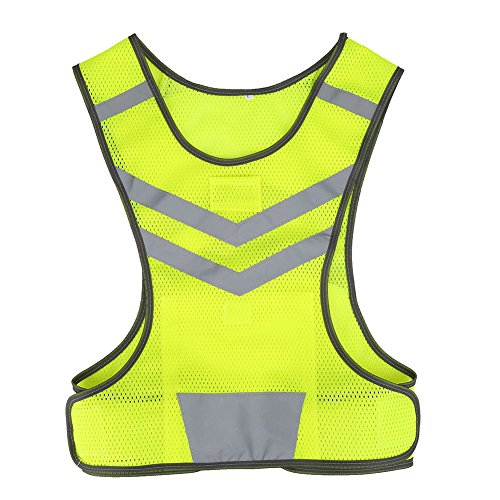 Filfeel Chaleco de Seguridad,Distancia Reflectante de 200 m de Largo Adecuado para Ciclismo y Correr(M)