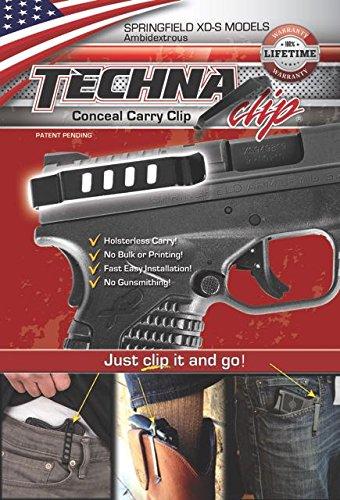 Techna Clip Belt Clip, Fits Springfield XDS, Ambidextrous, Black XDSBA