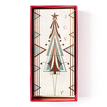 boxed christmas cards art deco tree 16pk by papyrus 16pk