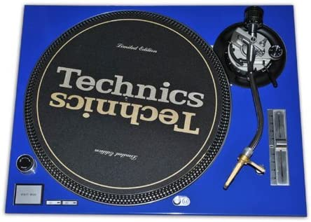 Technics Blue Face Plate for Use With Technics SL1200 SL1210 MK5 M3D Turntables