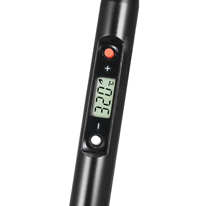 KKmoon AC 220V 80W Soldador de Hierro LCD Temperatura Digital Ajustable Eléctrica Herramienta de Soldadura de hierro sin Mini Estación de Soldadura: ...