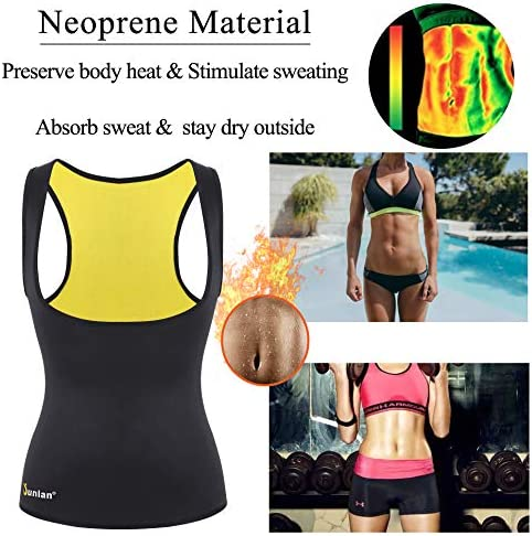 Junlan Neoprene Waist Trainer Vest for Women Corset Workout Body Shaper Cincher Sauna Sweat Tank Top Workout Girdle 5