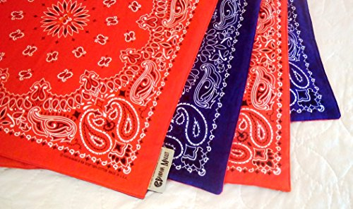 Bandana Quilt, hand crafted with actual Bandanas. Orange/Purple. Perfect for Clemson University. Small size.