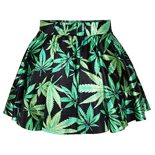 Jupe Jupe Midi green Femmes Rtro Basique Jupe LLS Courte YTxUqqg