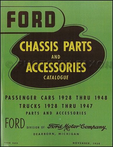 1928-1948 Ford Green Bible Mechanical Parts Book Reprint - Ford Truck Parts Catalog