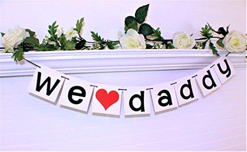 GrantParty We Love Daddy Banner We Love Dad Banner Guirnalda Día del Padre Regalo de Hijo e Hija Día del Padre Suministros...