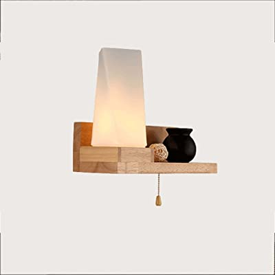Piaoling Lampe Murale Nordique Moderne En Bois Massif En Bois Massif