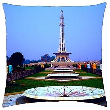Minarett Pakistan, Lahore – Überwurf Kissenbezug Fall (40,6 x 40,6 ...