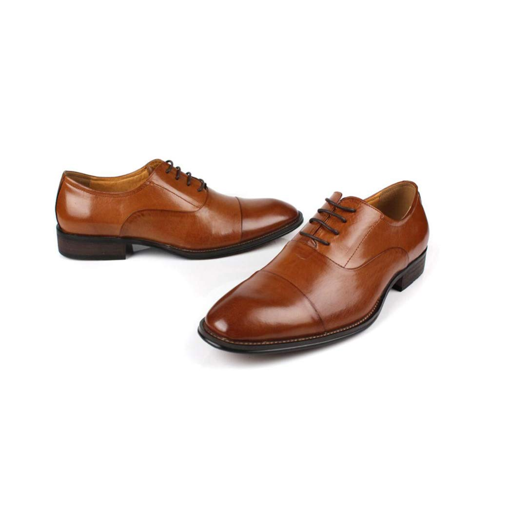 Zxcer Oxford Lackleder Plain Plain Plain Toe Brautkleid Schuhe für Männer schnüren Bequeme Formale Business-Schuhe 15e9d7