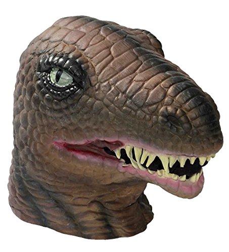 Forum Novelties Men's Dinosaur Latex Mask, Multi Colored, One Size