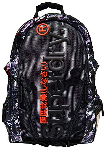 733526cd2 Superdry Accessories Mesh Tarp Backpack Backpack, Abstract Alpine Black