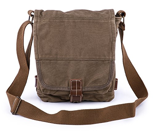 Canvas Small Body Cross Army Gootium Cotton Green 21223 Bag Messenger wIqXqEBgn