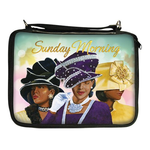 Covers African Bible (African American Expressions - Sunday Morning/Ladies With Hats Bible Organizer (7.5