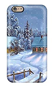 AMGake Case Cover For Iphone 6 - Retailer Packaging Christmas 2011 Protective Case