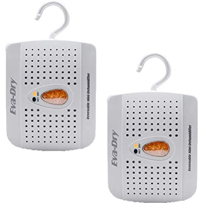 .com - Eva-Dry E-333 Renewable 333 Cu Ft Small Space Closet Mini Dehumidifier (2 Pack) -