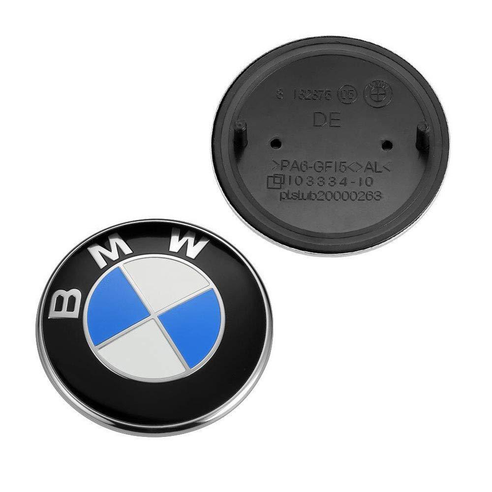 Emblem Logo Replacement for BMW Hood//Trunk 82mm for ALL Models E30 E36 E34 E60 E65 E38 X3 X5 X6 3 4 5 6 7 8 Trooer