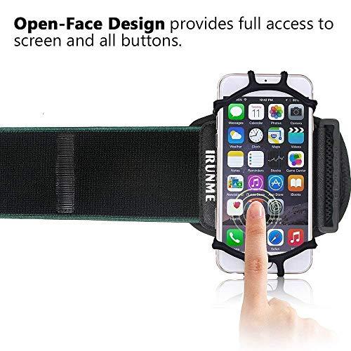 Armband iPhone X/iPhone 8 Plus/ 8/7 Plus/ 6 Plus/ 6, Galaxy S8/ S8 Pl us/ S7 Edge, Note 8 5, Google Pixel, 360° Rotatable Key Holder Phone Sports Armband Phone Holder by iRunme (Image #1)