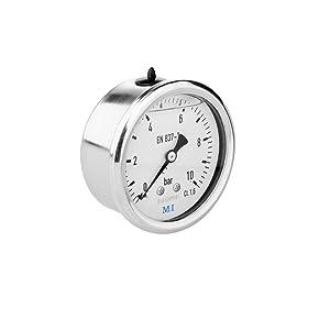 Mei 6063241500 - Manómetro con glicerina, horizontal (latón, 63 mm)